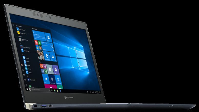 NowyToshiba Portege X30-F to dość klasyczny laptop
